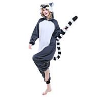 Kigurumi plišana pidžama Lemur Onesie pidžama Kostim Flis Ink Blue Cosplay Za Zivotinja Odjeća Za Apavanje Crtani film Noć vještica