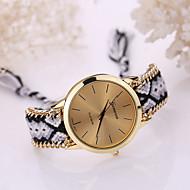 Mulheres Relógio de Moda Bracele Relógio Quartzo Tecido Banda Boêmio Cores Múltiplas
