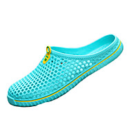 baratos Sapatos Femininos-Mulheres Sapatos Neoprene Primavera / Verão Conforto Tamancos e Mules Caminhada Sem Salto Preto / Vermelho / Azul Claro