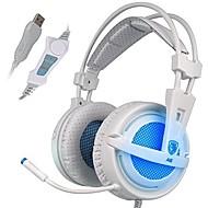 billiga Headsets och hörlurar-SADES A6 Över örat / Headband Kabel Hörlurar Dynamisk Plast Spel Hörlur Ljudisolerande / mikrofon / Med volymkontroll headset