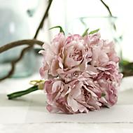 1 1 şube Polyester Şakayıklar Masaüstü Çiçeği Yapay Çiçekler 27cm