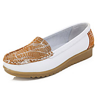 Damă Pantofi Flați Primăvară Vară Confortabili Piele Casual Toc Plat Galben Rosu Albastru Plimbare