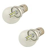 4W E26/E27 LED-globepærer G45 20 SMD 2835 360 lm Kjølig hvit Dekorativ AC 85-265 AC 220-240 AC 100-240 AC 110-130 V 2 stk.