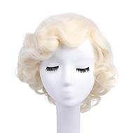Naisten Synteettiset peruukit Suojuksettomat Kihara Blonde capless Peruukit Halloween Peruukki Carnival Peruukki Rooliasu peruukki
