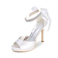 Sandaletler-Düğün Parti ve GeceSaten-Stiletto Topuk-Siyah Mavi Pembe Mor Kırmızı Ekru Beyaz Gümüş Altın Şampanya-Kadın