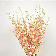 billige Kunstige blomster-1 Gren Polyester Plastikk Silika Gele Andre Bordblomst Kunstige blomster 103(42.121'')