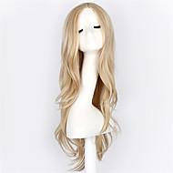 Perruque Synthétique / Perruques de Déguisement Ondulé Style Sans bonnet Perruque Blond Blond Cheveux Synthétiques Blond Perruque Perruque Naturelle