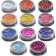 1 pcs Negle smykker / Glitter & Poudre / Pudder glitter / Klassisk / Bryllup Nail Art Design Daglig / Glitter & Sparkle