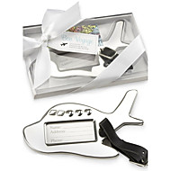 Chrome Airplane Luggage Tag in Elegant White Box Party Souvenir Beter Gifts®Wedding Favors
