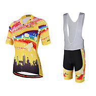 Miloto Camisa com Bermuda Bretelle Mulheres Manga Curta Moto Calções Bibes Pulôver Camisa/Roupas Para Esporte Tights Bib Secagem Rápida