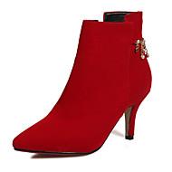 Damen Schuhe Vlies Herbst Winter Stiefeletten Modische Stiefel Stiefel Stöckelabsatz Booties / Stiefeletten Reißverschluss Kette Für