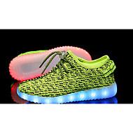 baratos Sapatos de Menina-Para Meninas sapatos Tule Verão Tênis com LED Conforto Tênis Caminhada LED para Casual Cinzento Verde Rosa claro Azul Real