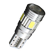 SO.K 4PCS T10 سيارة لمبات الضوء SMD 5630 180 lm 6 أضواء الداخلية