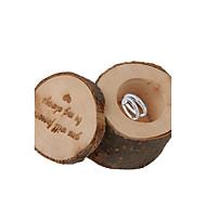 Rund Kvadrat Cylinder Træ Gave Til Gæster Holder med Printer Yndlingsæsker Gavebokse - 1