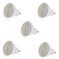 billige -5 stk 5w 2835x60smd gu10 / mr16 varmkule hvitt farge plastskall ledet spotlys (ac220-240v)