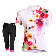 ieftine TASDAN®-TASDAN Pentru femei Manșon scurt Jerseu Cycling cu Pantaloni Scurți Bicicletă Pantaloni scurți Jerseu Set de Îmbrăcăminte, Uscare rapidă,