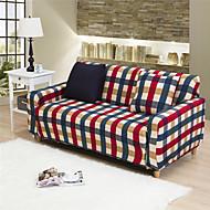משובץ אדום במקרה ספה רב תכליתי הכל כלול מלא ספת כיסוי להחליק כיסוי למתוח בד אלסטי בצבע אחיד