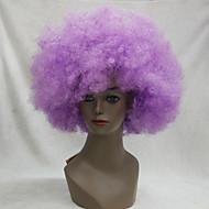 Férfi Női Szintetikus parókák Sapka nélküli Kinky Curly afro Bíbor Halloween paróka Carnival Paróka Jelmez paróka jelmez paróka