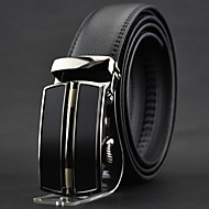 Men Black Leather Automatic Buckle Waist Belt Work / Casual Alloy / Leather All Seasons