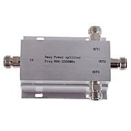 3-drożny rozdzielacz zasilania n female splitter 800-2500mhz dla telefonu komórkowego wzmacniacza sygnału repeater