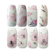 1 pcs Negle Smykker Negle kunst Manicure Pedicure Blomst / Klassisk / Bryllup Daglig / Negle smykker