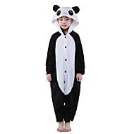 Børne Kigurumi-pyjamas Panda Onesie-pyjamas Polarfleece Sort Cosplay Til Drenge og piger Nattøj Med Dyr Tegneserie Halloween Festival / Højtider
