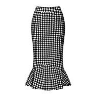 Ulični šik Ženski Suknje-Midi,Mikroelastično Poliester / Spandex