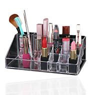 caixa de exibição acrílico organizador cosméticos clara de jóias maquiagem de armazenamento de cosméticos caixa de organizador titular de