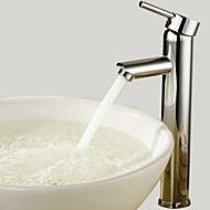 billige Sprinkle®-kraner-Baderom Sink Tappekran - Roterbar Krom Bolleservant Et Hull / Enkelt Håndtak Et HullBath Taps