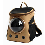 cheap Cat Clothing & Accessories-Cat Dog Carrier & Travel Backpack Astronaut Capsule Carrier Pet Carrier Portable Breathable Solid Khaki