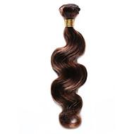 Cabelo Humano Cabelo Indiano Precolored Tece cabelo Onda de Corpo Extensões de cabelo 1 Peça Marrom Médio / Medium Auburn