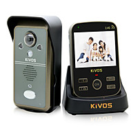 KiVOS KDB302A Wireless Visibility Domestic Infrared Induction Door Bell with Adjustable Lens Camera Lock