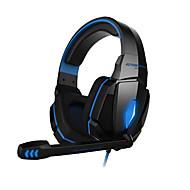 oyun kulaklığı G4000 stereo gürültü önleme oyun kulaklığı mikrofon hifi sürücü pc için led ışık