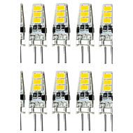 1.5W G4 LED betűzős izzók T 6 led SMD 5733 Vízálló Dekoratív Meleg fehér Hideg fehér 150-200lm 3000/6000K DC 12V
