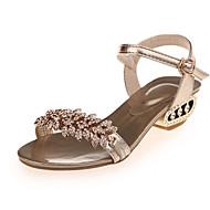 Χαμηλού Κόστους Γόβες ροζ χρυσό-Γυναικεία Παπούτσια PU Καλοκαίρι Ανατομικό Σανδάλια Χαμηλό τακούνι Αγκράφα Ασημί / Χρυσαφί