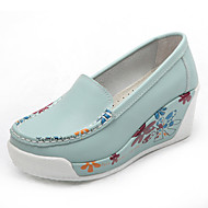 Women's Loafers & Slip-Ons Spring / Summer / Fall / Winter Closed Toe Leather Casual Platform Flower