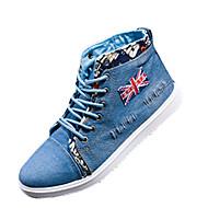 Herre-Tekstil-Flat hæl-Komfort-Treningssko-Fritid-Blå Marineblå