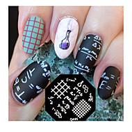 nail art stempling plade billede stempel skabelon matematisk formel mønster qa95