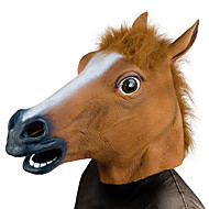 Horse Head Halloween Mask Halloween Prop Creepy Funny Horse Head Costume Horror Rubber Fun & Whimsical Costume Party Pieces Adults' Boys' Girls' Toy Gift