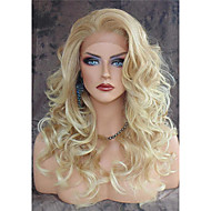 Vintage Blonde Long Loose Wave Wig Heat Resistant Lace Front Synthetic Hair Hot Sale