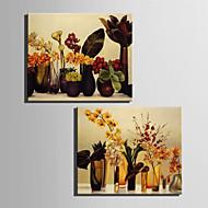 baratos -Vida Imóvel / Botânico Impressão em tela Dois Painéis Pronto para pendurar,Vertical