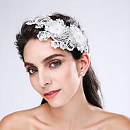 チュール模造真珠のレースアクリル花のヘッドピースエレガントなスタイル
