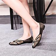 Feminino Sapatos Couro Verão Rasos Rasteiro Para Casual café