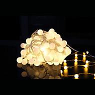 10m Leuchtgirlanden 100 LEDs LED Diode Warmes Weiß Dekorativ / Verbindbar / Weihnachten 1 set / IP44