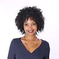 Naisten Aitohiusperuukit verkolla Aidot hiukset Full Lace Tiheys perverssi Peruukki Jet Black Musta Tummanruskea Kastanjan ruskea Lyhyt