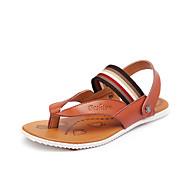 メンズ 靴 レザー 夏 スリングバック サンダル 用途 カジュアル ホワイト Brown ブルー