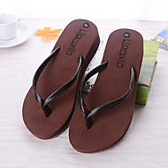 Damen Schuhe PVC Sommer Herbst Komfort Slippers & Flip-Flops Flacher Absatz Für Normal Weiß Schwarz Braun