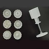billige Bakeredskap-Bakeware verktøy Plast Håndtak / Ny ankomst / 3D Kake / Til Småkake / Sjokolade Cake Moulds 1set