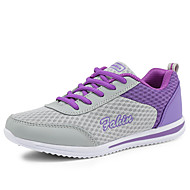 Žene Cipele Til Proljeće / Ljeto / Jesen Udobne cipele Sneakers Hodanje Ravna potpetica / Platformske cipele Vezanje Sive boje / Crvena /