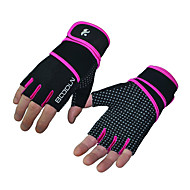 cheap Sports Support & Protective Gear-Fitness Breathable Lengthened Wrist Men and Women Slip Weightlifting Equipment Sports Safety Gloves Half Finger 1 Pair